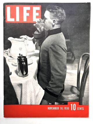 First 7 issues of LIFE magazine in VG condition: Nov. 23, 30, Dec. 7, 14, 21, 28, 1936; Jan. 4, 1937