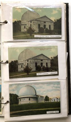 Binder of 150+ postcards of astronomical observatories, planetariums, and other related cards...