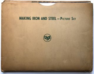 """Making Iron and Steel -- Picture Set"" - 22 8x10 plates with ""Teacher's Guide"" (1955), Fisher's..."