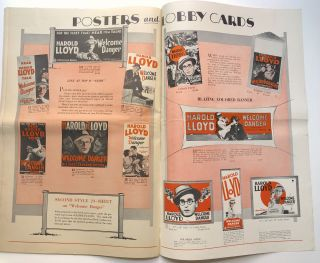 "Huge 1929 publicity brochure for Harold Lloyd in ""Welcome Danger"""