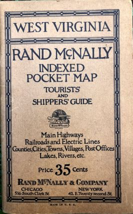 Rand McNally Indexed Pocket Map of WEST VIRGINIA, 1920s