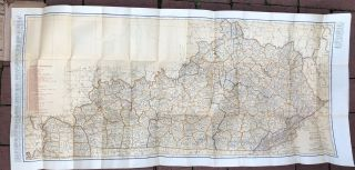 Rand McNally indexed pocket map, tourists' and shippers' guide of Kentucky