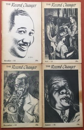 4 issues of The Record Changer: July, October, December, 1944, January, 1945. Gordon Gullickson,...