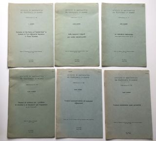 27 offprints -- 1953-1965 -- on mathematics and engineering, including his important work on the...