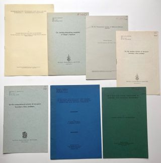 Lot of 39 offprints (1961-1965) on mathematics, dynamic programming, Hamilton's equations,...