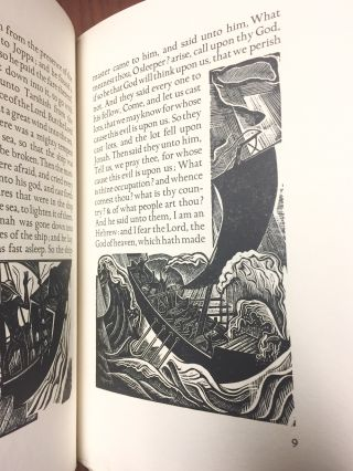 The Book of Jonah, taken from the authorised version of King James I, with engravings on wood by David Jones