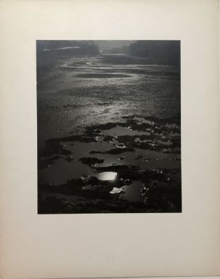 "Original 13.25 x 10.5"" 1957 silver gelatin photograph, ""Gone Dry"" - drained lake from someone..."
