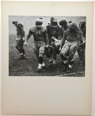 "Original 13.25 x 10.5"" gelatin silver photo, ""A Sad Moment"" - Pittsburgh Steelers injury ca...."