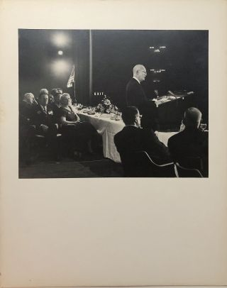 "Original 13.25 x 10.5"" 1960 gelatin silver photo of Eisenhower campaigning for GOP in Pittsburgh...."