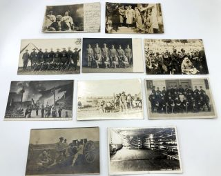 10 military postcards mainly Real Photo, WWI & before, European & American, including Denver 1906...