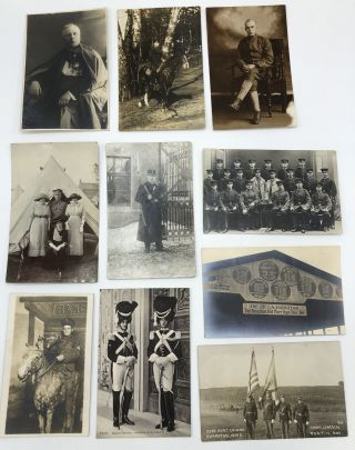 10 military postcards, mainly Real Photo, WWI & before, European & American: Photo from...