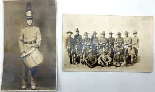 11 military postcards & CDVs, mainly Real Photo, WWI & before, European & American: 4 German CDVs (3 of one officer); Base hospital Camp Lee; Trenches & Drill Grounds at Camp Hancock, plus various troops and officers.