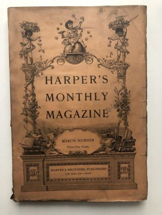 Harper's New Monthly Magazine, March 1909. James Branch Cabell, Norman Duncan