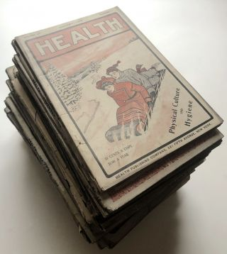 Group of 38 Health magazine issues, 1905-1909. Robert D. Braine