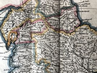 A New and very Accurate Map of South Britain, or England and Wales, 1747 framed map with original color