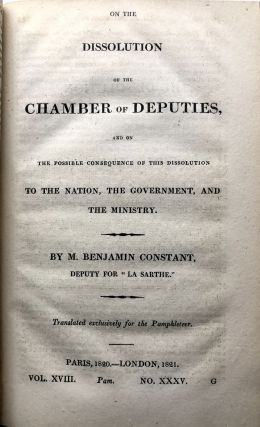 The Pamphleteer, Vol. XVIII (Nos. 35 & 36), 1821