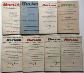 Horizon, a Review of Literature and Art, No. 71 (November 1945) - 91 (August 1947) - 21 consecutive issues