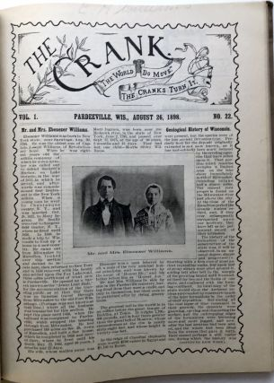 The Crank (Pardeeville WI newspaper) bound volume, Vol. 1 nos. 1-52, March 30, 1898 to March 24, 1899