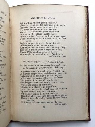 Poems -- inscribed with poem to his daughter Ruth