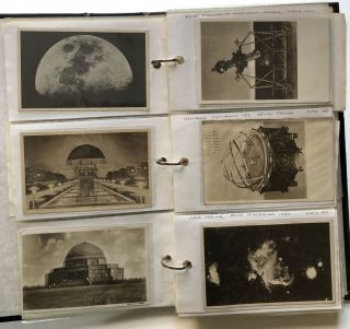 Binding of ~150 postcards featuring PLANETARIUMS across the US 1910s-1980s: Adler, Buhl, Hayden, Griffith, etc.