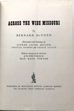 Across the Wide Missouri - limited signed edition