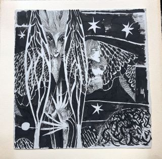 """""""The Angel"""" -- 1986 artist's book of 18 meticulous pen & ink sequenced drawings -- really beautiful"""