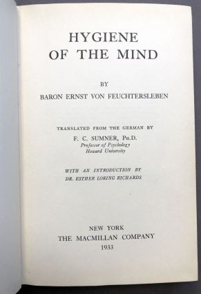 Hygiene of the Mind, translated from the German by F. C. Sumner