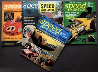 Group of 22 hot-rodding and custom car magazines & catalogs from the 1950s and 1960s