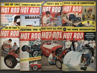 Group of 21 HOT ROD magazines from1957-1963