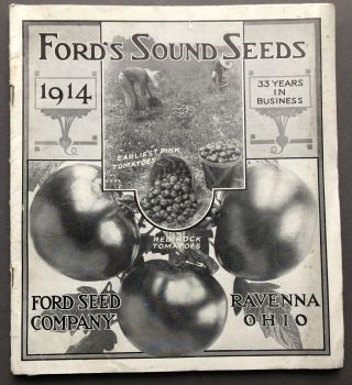 1914 Catalogue: Ford's Sound Seeds. Ravenna Ford Seed Co., OH