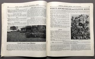 1914 Catalogue: Ford's Sound Seeds