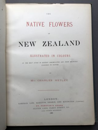The Native Flowers of New Zealand