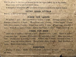 """Gilded Age """"Poverty Party"""" invitation in Dialect: Poverty Partty; Yew air axed to a Poverty Partty that us folks of the Ladies Aid Society of the Reformed Church air a=goin to have at the Auditorium Grange Park, on Thursday Nite, July the 10th, 1896"""