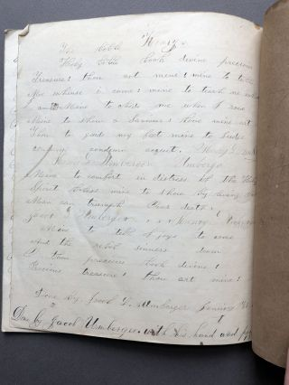 Schoolboy's 1860-61 handwriting copybook of phrases and sentences: Lincoln is President of the United States; Names of Fools and Monkey Faces, &c.