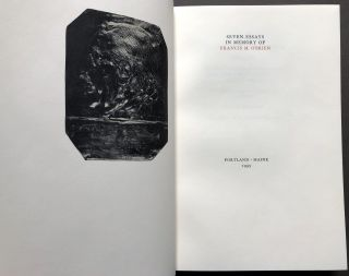 Seven Essays in Memory of Francis M. O'Brien -- one of a very few copies in quarter niger by the Gray Parrot bindery
