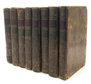 The Spectator, Edinburgh 1776 edition in 8 volumes, owned by Isaac Craig (1741-1826). Joseph...