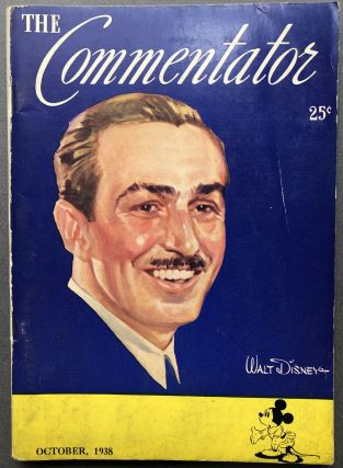 The Commentator, Vol. 4 no. 3, October 1938, Disney cover. Lowell Thomas, ed. Walt Disney interest