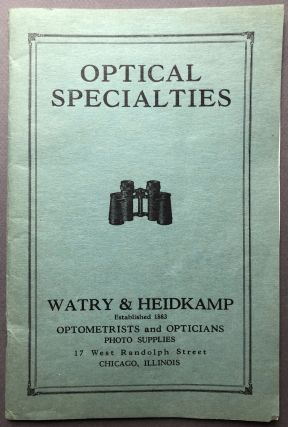 Ca. 1925 catalog of Optical Specialties: Binoculars, telescopes, thermometers, magnifying glasses...