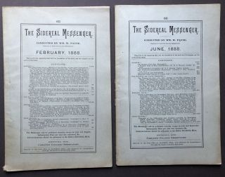 2 issues of The Sidereal Messenger, February and June, 1888. Astronomy, Wm. W. Payne, W. H. S....