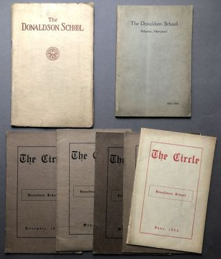 Group of 1920s publications about The Donaldson School, Ilchester Rd., Ellicott City, Maryland...