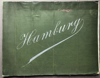 Large 1903 View Book of Hamburg Germany inscribed by Henry J. Heinz. Henry J. Heinz