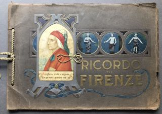 Large 1911 View Book Ricordo di Firenze inscribed by Henry J. Heinz. Henry J. Heinz