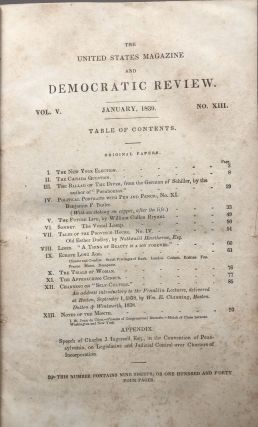 The United States Magazine and Democratic Review, Vol. 6, January-December 1839