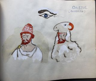 The Land of the Greeks and their Hats [handmade artist book from 1963]