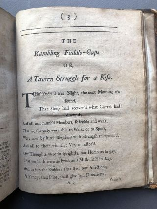 Hudibras Redivivus, or a Burlesque Poem on the Times, in Twenty Four Parts, with An Apology and some other Improvements throughout the Whole; to which is now added, The Rambling Fuddle-Caps: or a Tavern Strugle for a Kiss