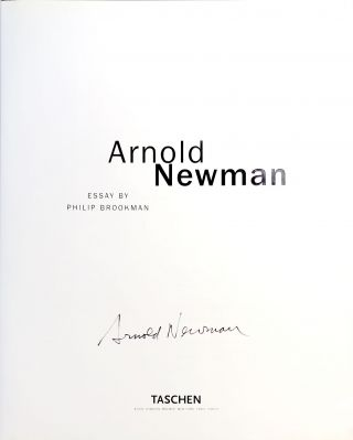 Arnold Newman - signed copy