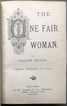 The One Fair Woman - finely bound and with tipped in letter from Miller