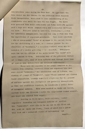 """""""Concentration Camps"""" (published essay ca. 1940 refuting Ribbentrop's claim that Nazi concentration camps were based on the British model used in the Boer War)"""
