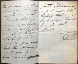 Autograph Letter Signed, 1853, commenting on a review, to Lord Holland