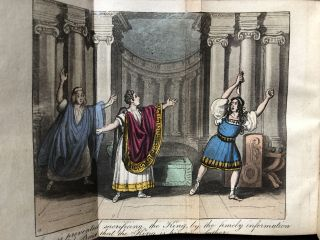 22 volumes of Dramatic Tales, ca. 1830s - 88 tales with folding colored frontispieces